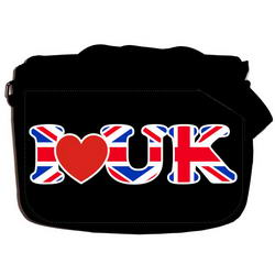 "Сумка ""I LOVE UK"" Large school-456"